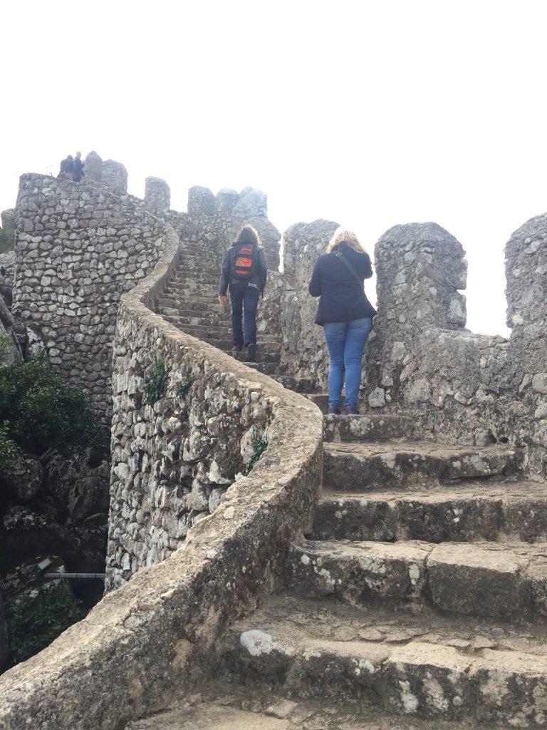 ムーアの城跡の階段