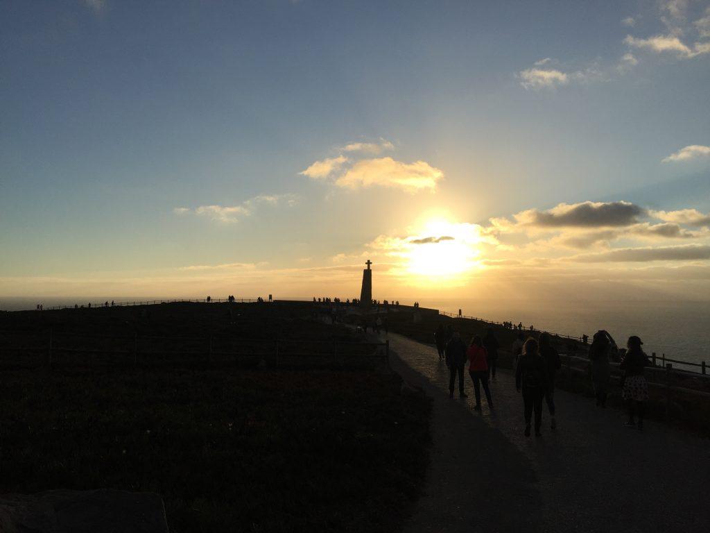 ロカ岬の夕日