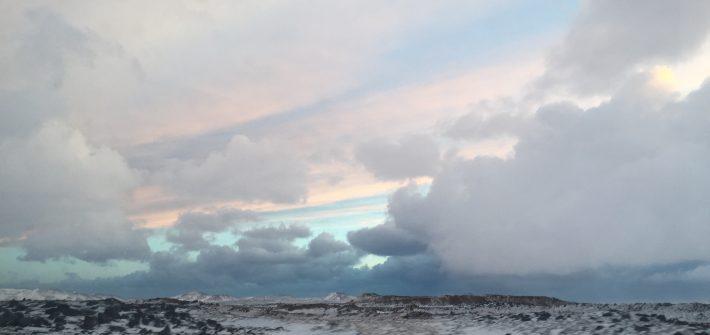 アイスランドの夕方