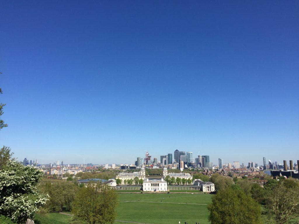 グリニッジ天文台から見たロンドン