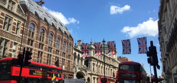 ロンドンの街中