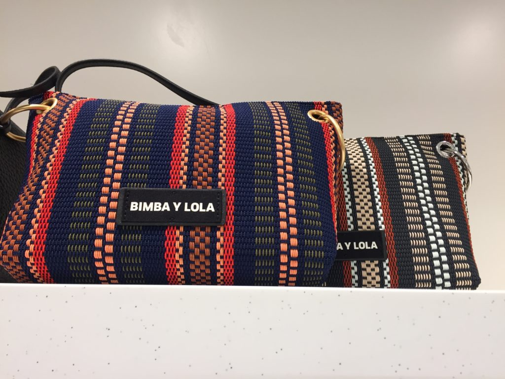 Bimba y Lola カラフルな編み柄バッグ